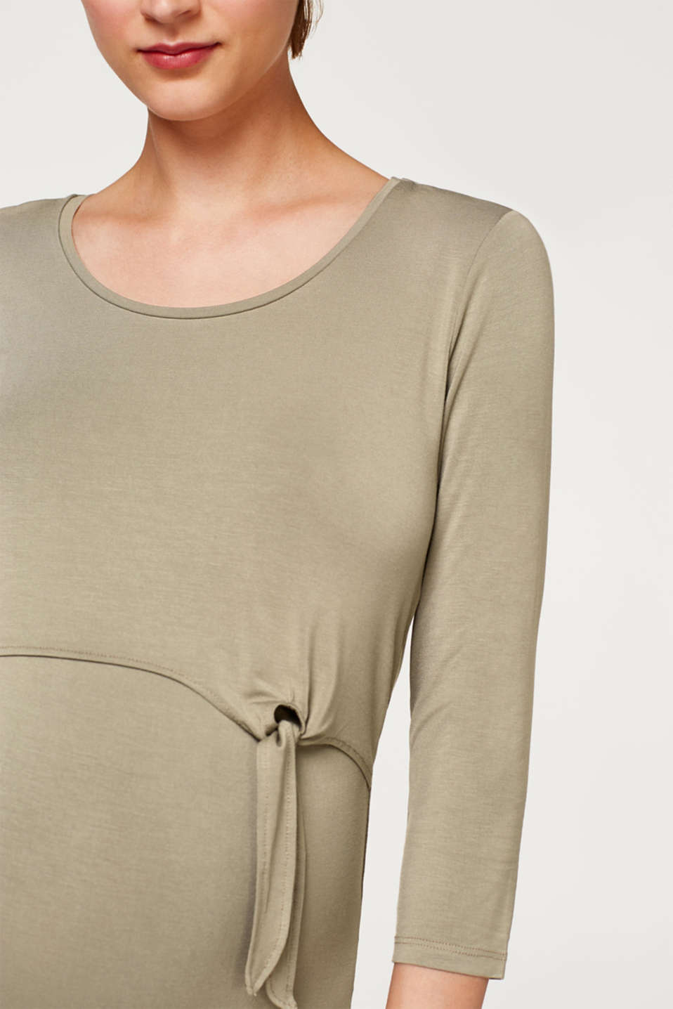 Nursing top with bow details, LCREAL OLIVE, detail image number 5