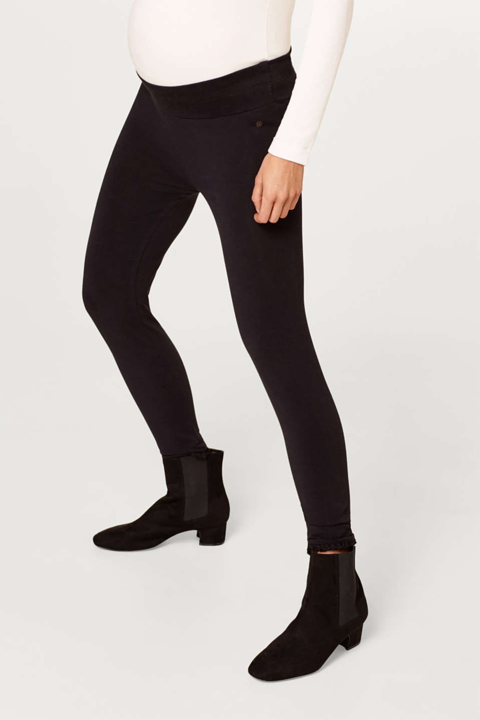 Esprit - Capri-leggings med linning under magen