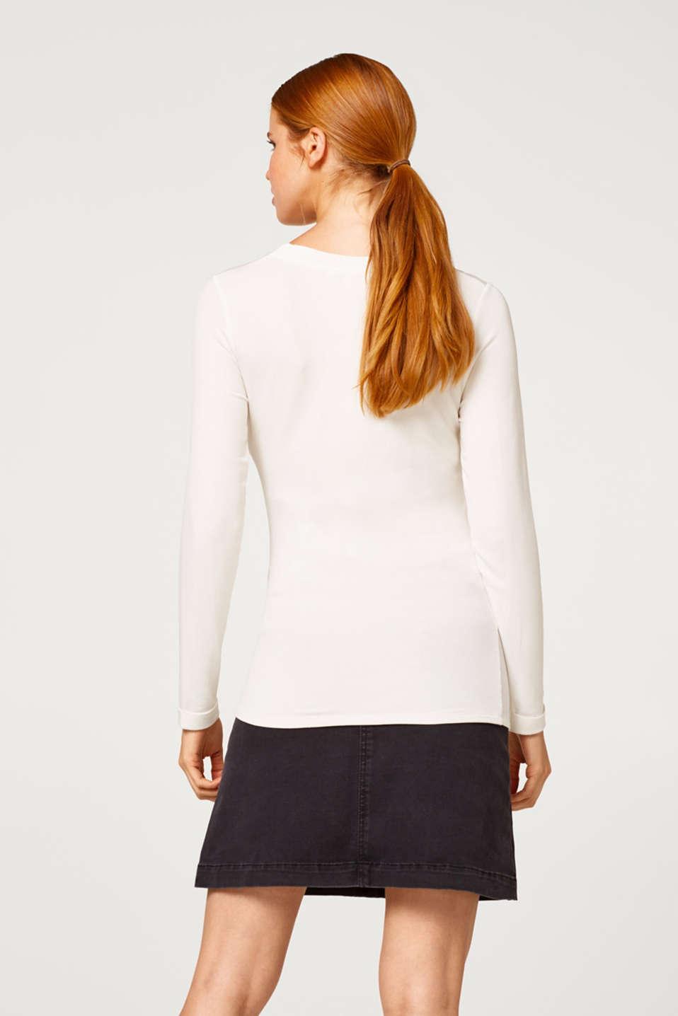 Super stretch denim skirt with an under-bump waistband, LCBLACK DARKWASH, detail image number 3