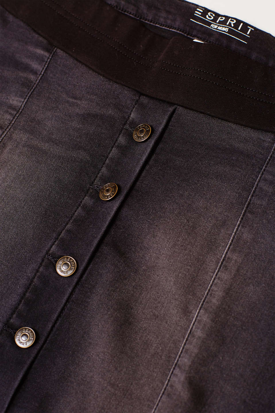 Super stretch denim skirt with an under-bump waistband, LCBLACK DARKWASH, detail image number 4