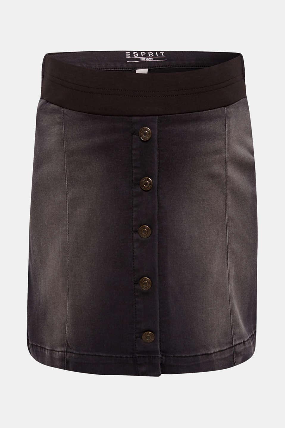 Super stretch denim skirt with an under-bump waistband, LCBLACK DARKWASH, detail image number 0