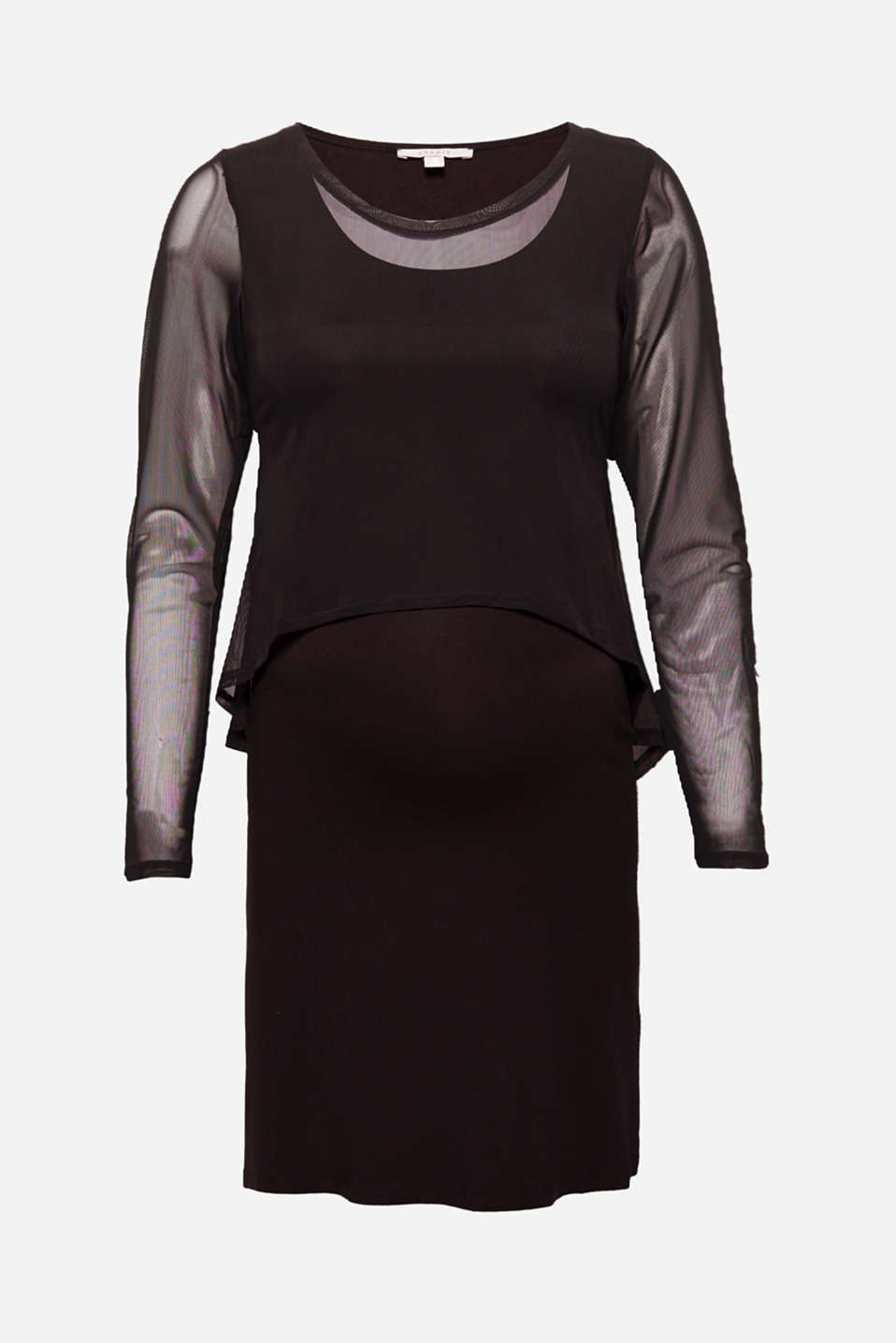 Esprit - Layered dress with nursing feature
