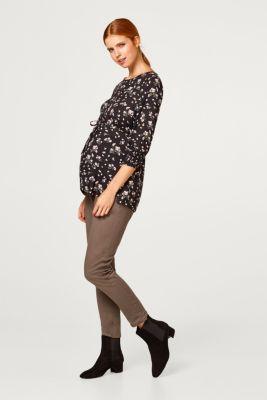 Printed blouse with smocked sleeves, LCBLACK, detail