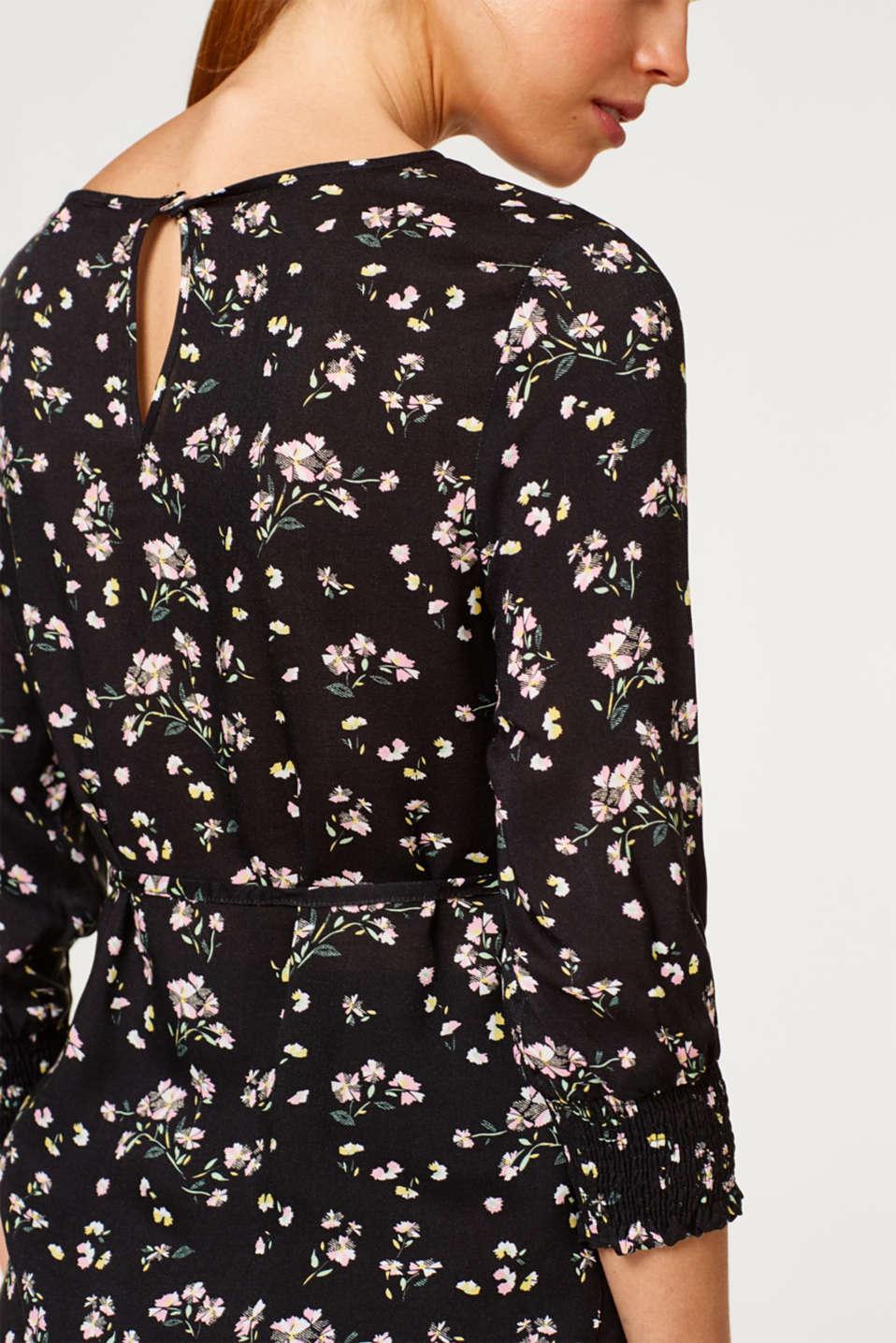 Printed blouse with smocked sleeves, LCBLACK, detail image number 2