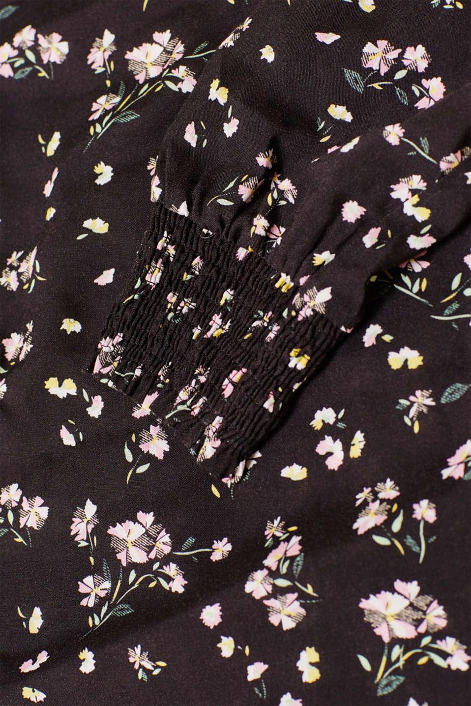 Printed blouse with smocked sleeves, LCBLACK, detail image number 4