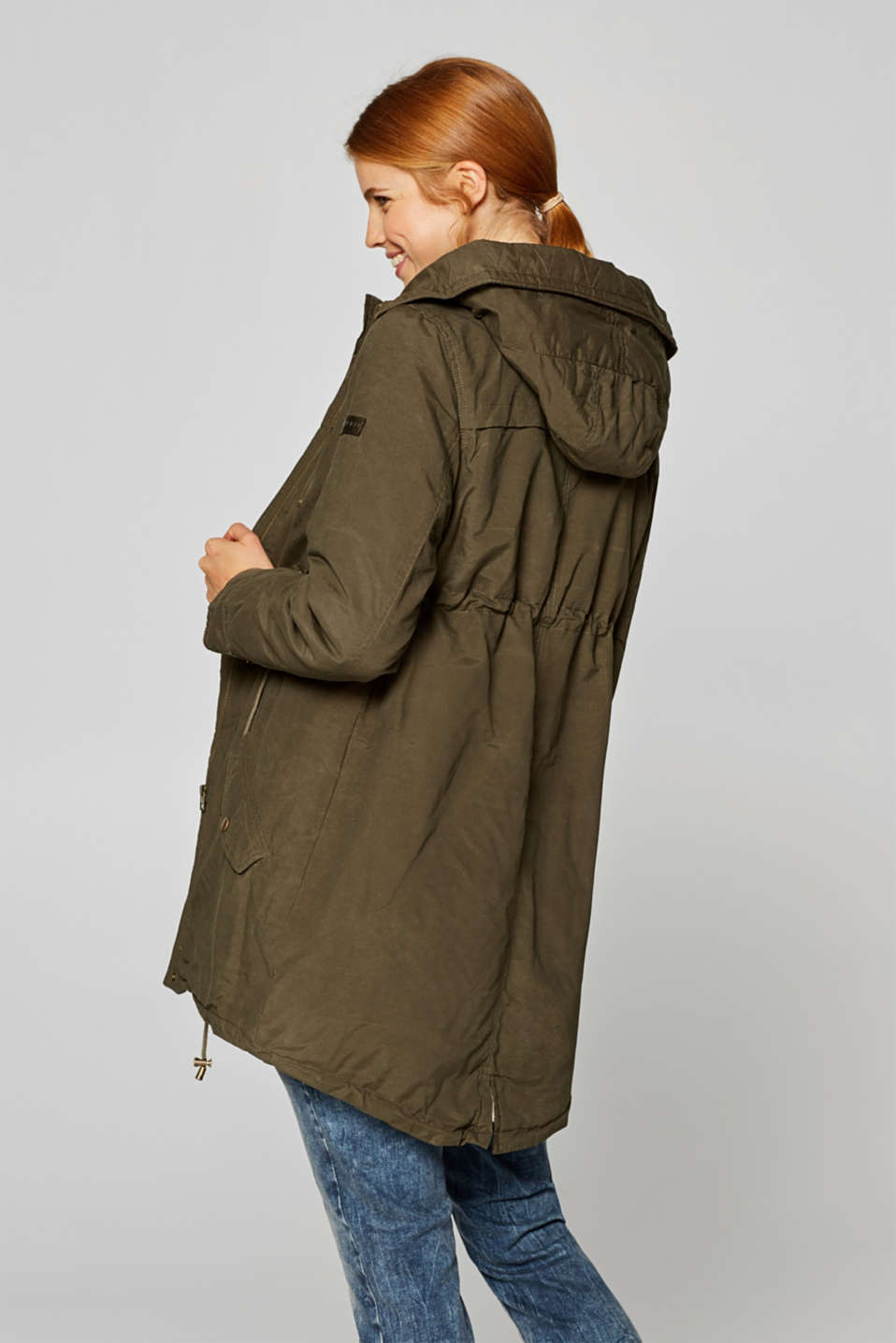 Cotton parka with teddy fur, LCNAVY, detail image number 3