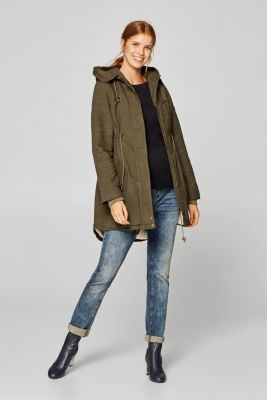 Cotton parka with teddy fur, LCNAVY, detail
