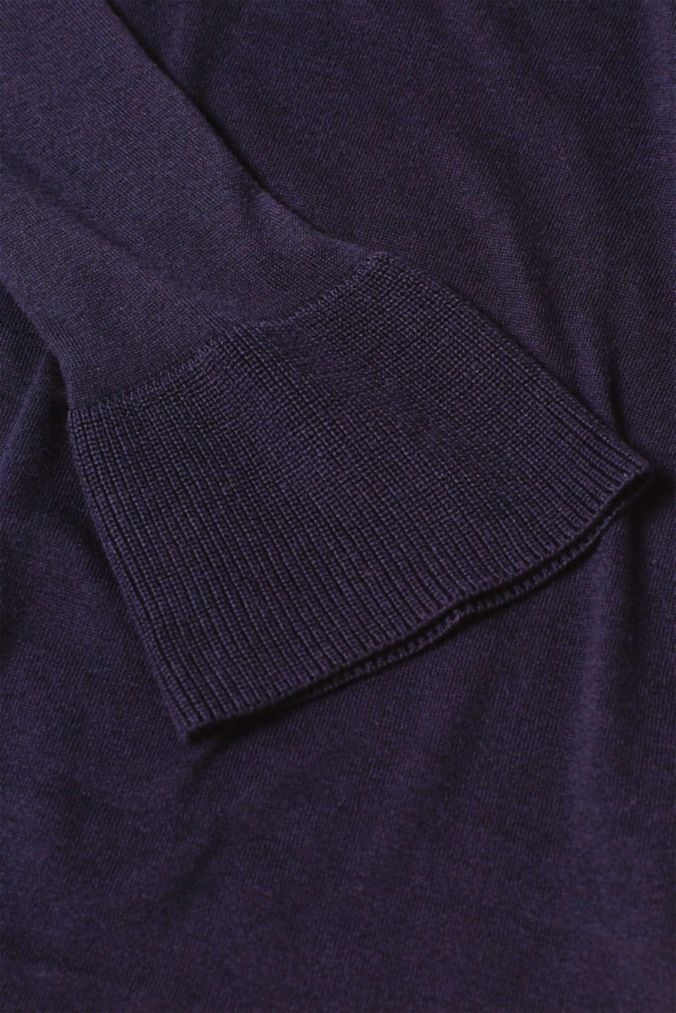 Basic jumper with flounce sleeves, LCNIGHT BLUE, detail image number 4