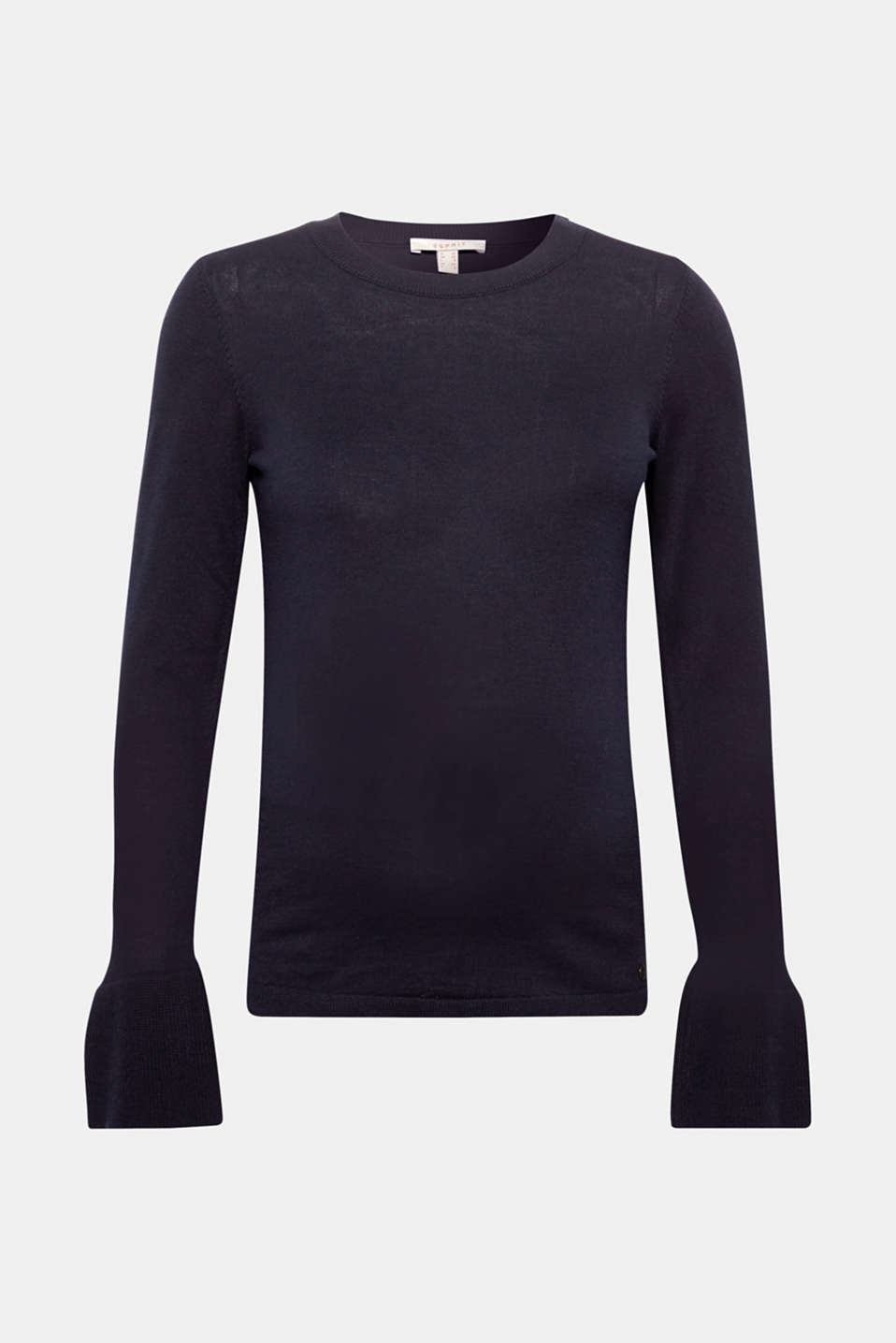 Esprit - Basic jumper with flounce sleeves