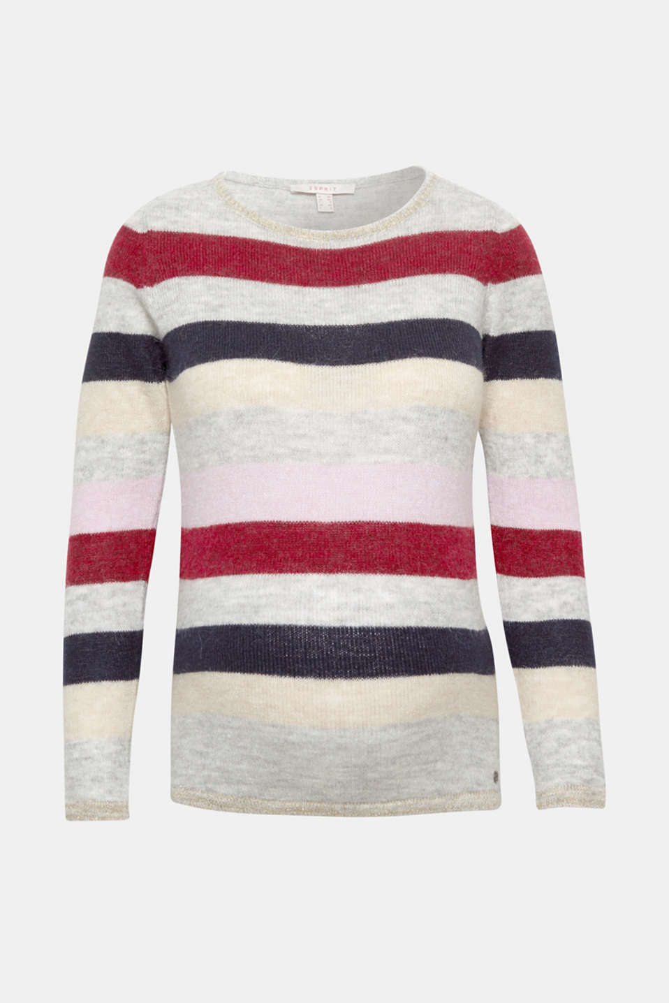 Esprit - Lightweight block stripe jumper with glitter