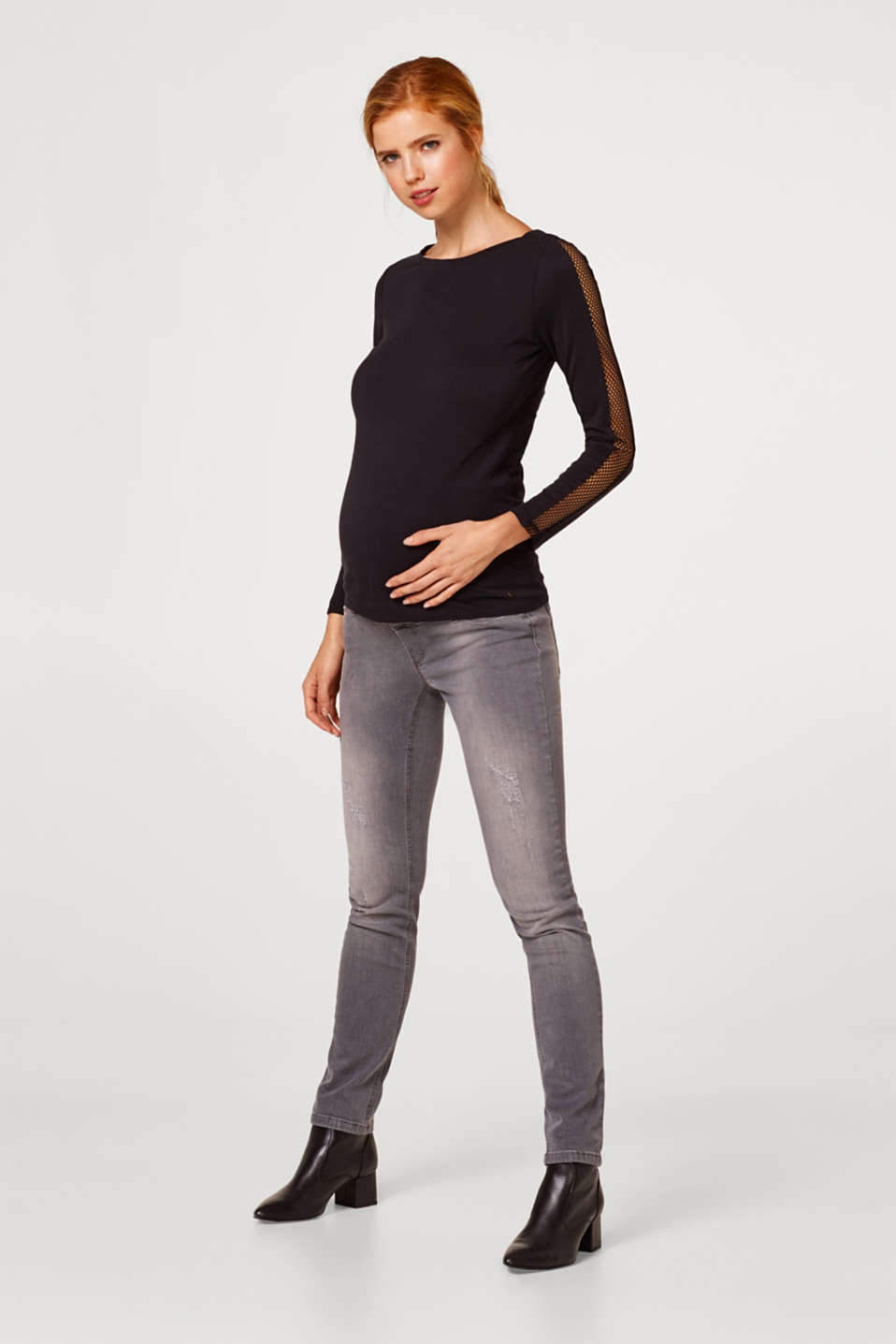 Esprit - Grey stretch jeans with an over-bump waistband