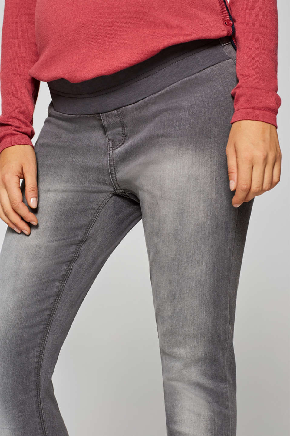 Jeggings with under-bump waistband, LCGREY DENIM, detail image number 1