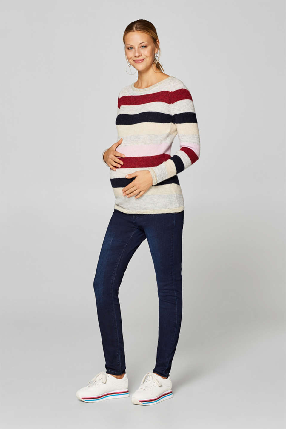 Esprit - Jeggings with under-bump waistband