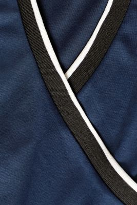 Stretch jersey jumpsuit with an under-bump waistband, LCNIGHT BLUE, detail