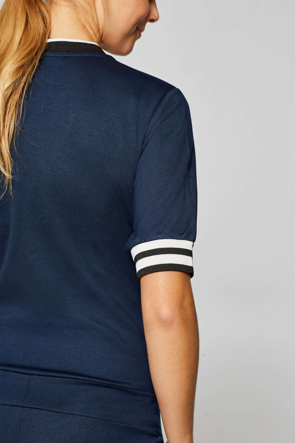Stretch jersey jumpsuit with an under-bump waistband, LCNIGHT BLUE, detail image number 5