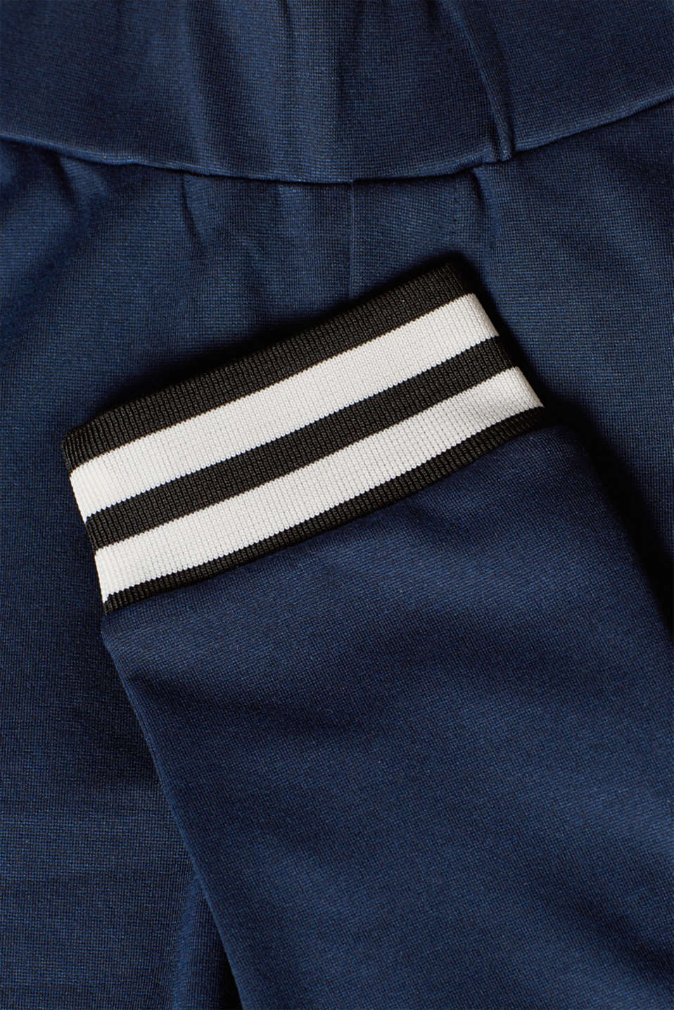 Stretch jersey trousers with a striped hems, LCNIGHT BLUE, detail image number 4