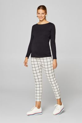 Stretch jersey trousers with an under-bump waistband, LCBLACK, detail