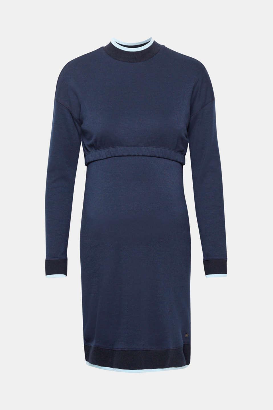 Nursing sweatshirt dress, LCNIGHT BLUE, detail image number 4