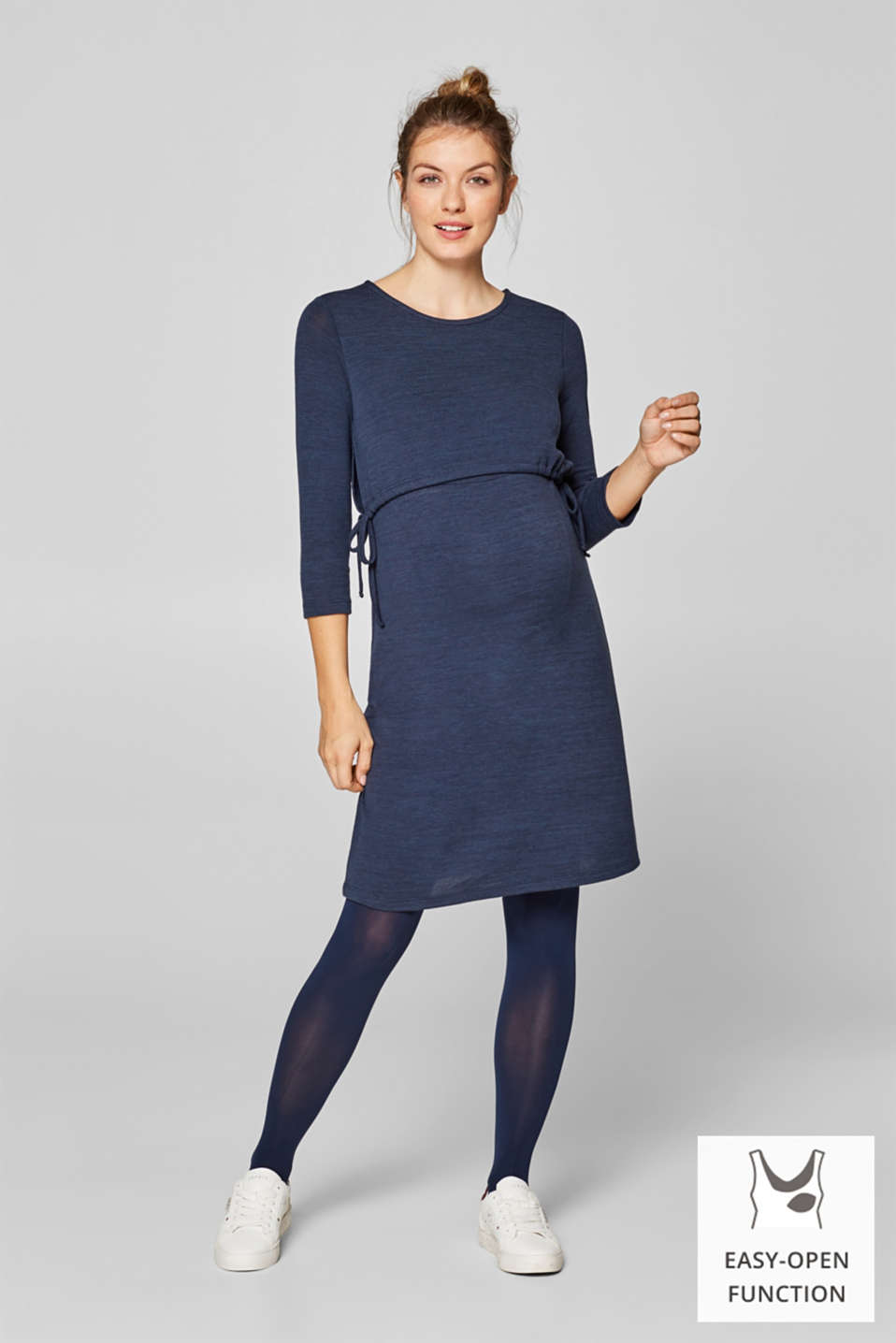Esprit - Jersey nursing dress with ties