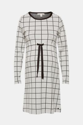 Midi dress with a drawstring, stretch jersey, BLACK, detail