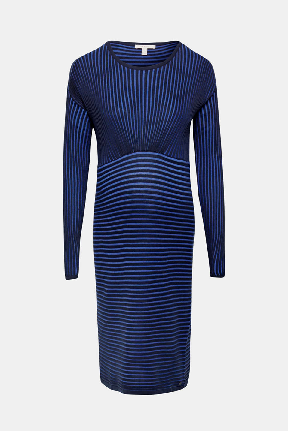 Two-tone ribbed knit midi dress, LCNIGHT BLUE, detail image number 6