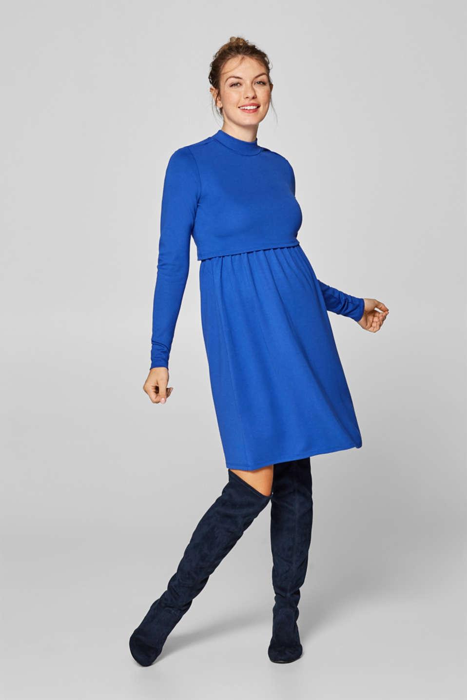 Midi nursing dress made of jersey, LCELECTRIC BLUE, detail image number 0