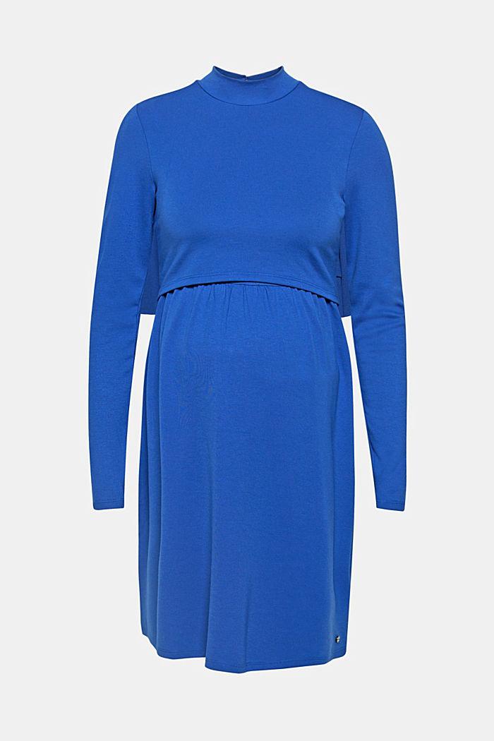 Midi nursing dress made of jersey, ELECTRIC BLUE, detail image number 0