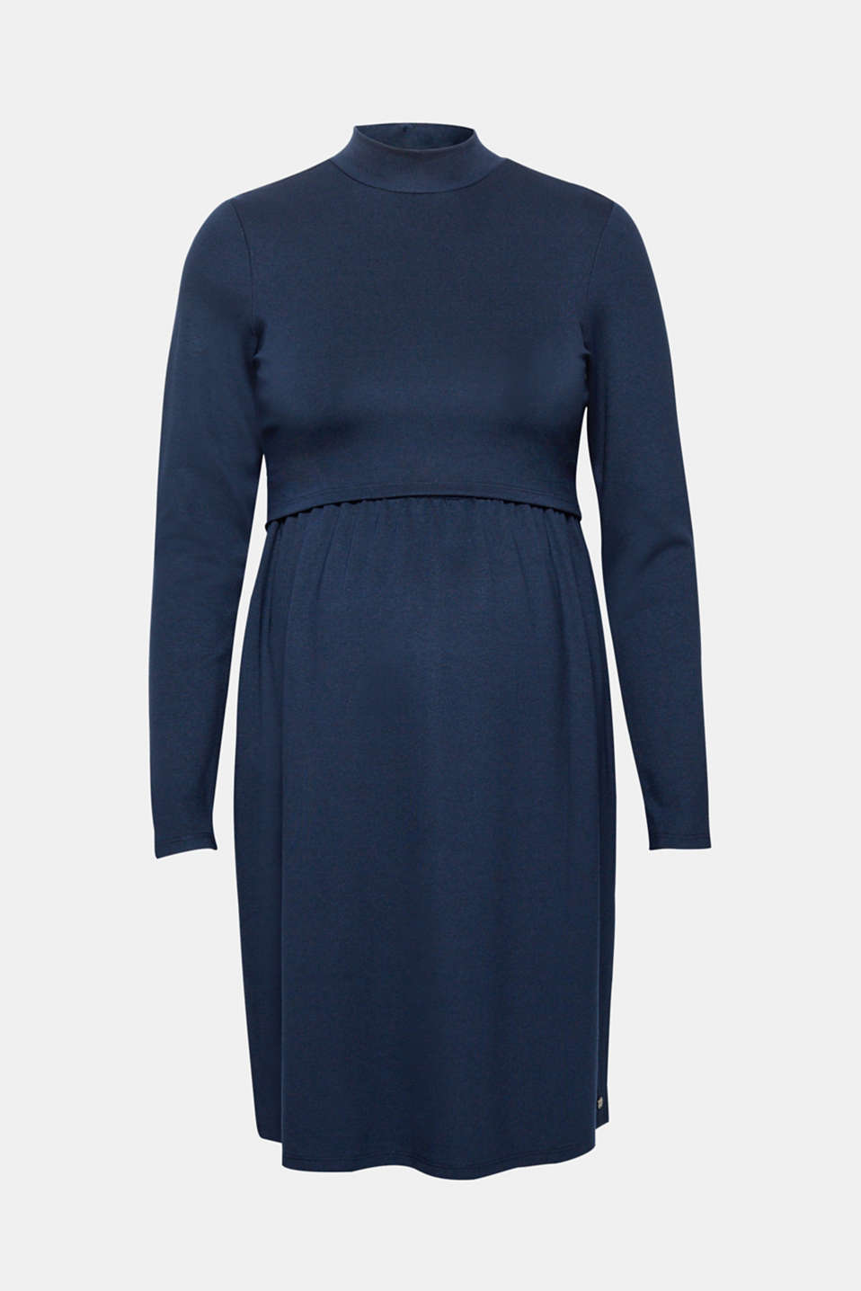 Midi nursing dress made of jersey, LCNIGHT BLUE, detail image number 0