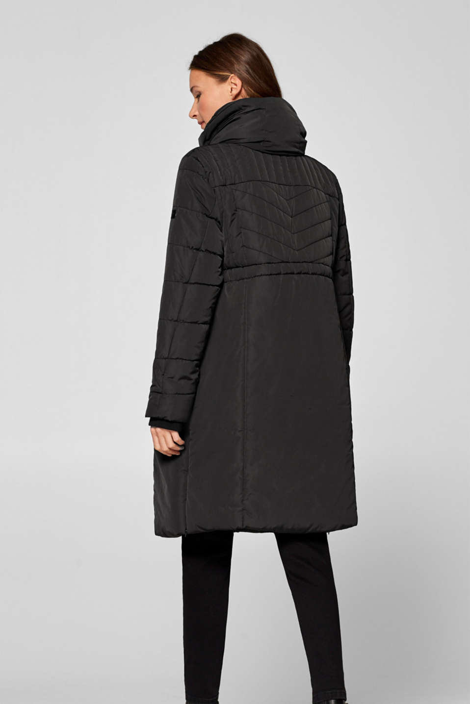 Incredibly variable quilted coat, LCBLACK, detail image number 3