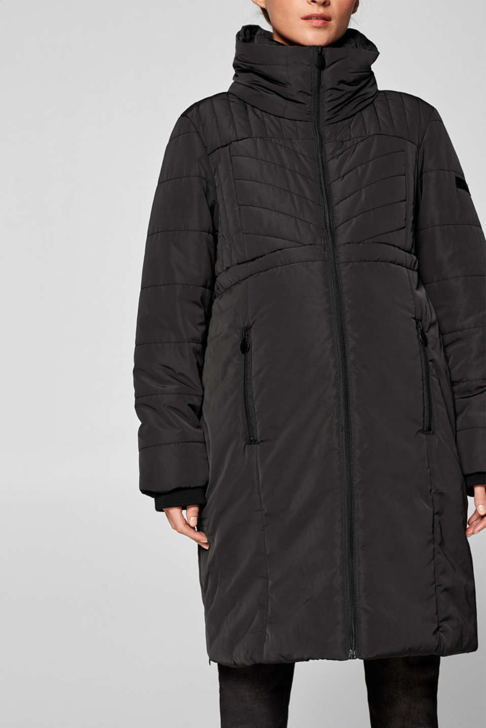 Incredibly variable quilted coat, LCBLACK, detail image number 5