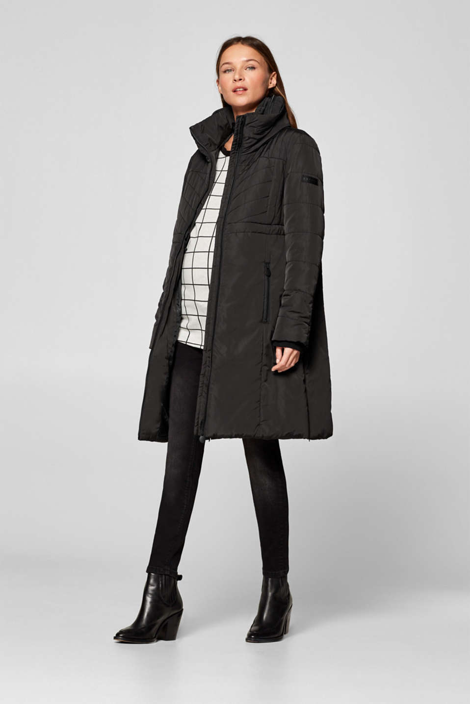 Incredibly variable quilted coat, LCBLACK, detail image number 1