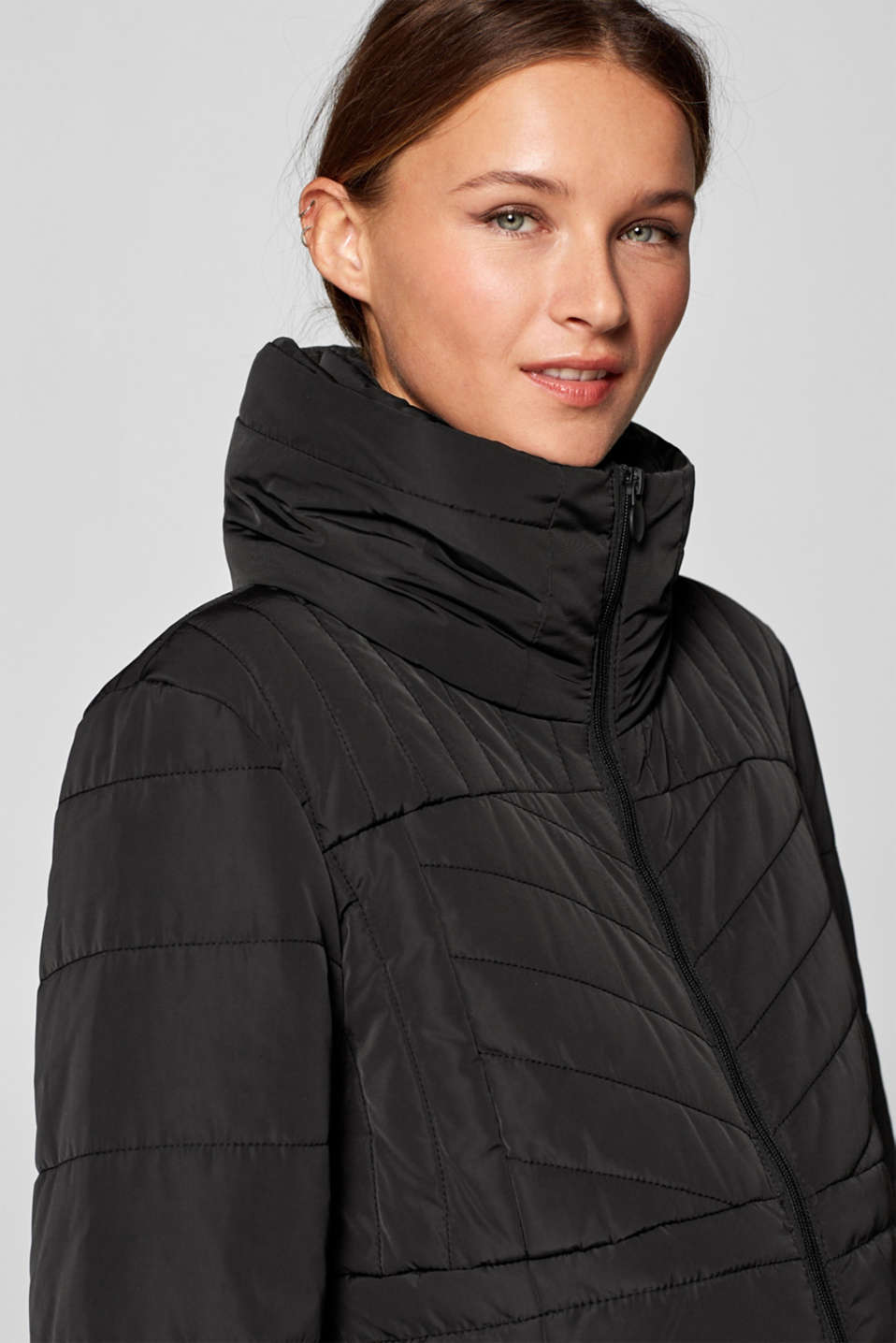 Incredibly variable quilted coat, LCBLACK, detail image number 2
