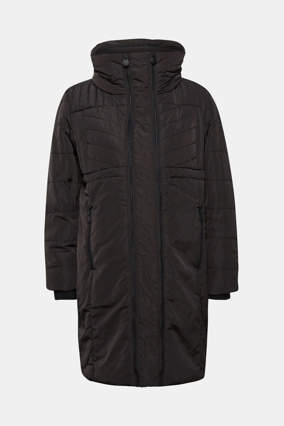 Incredibly variable quilted coat, LCBLACK, detail image number 0