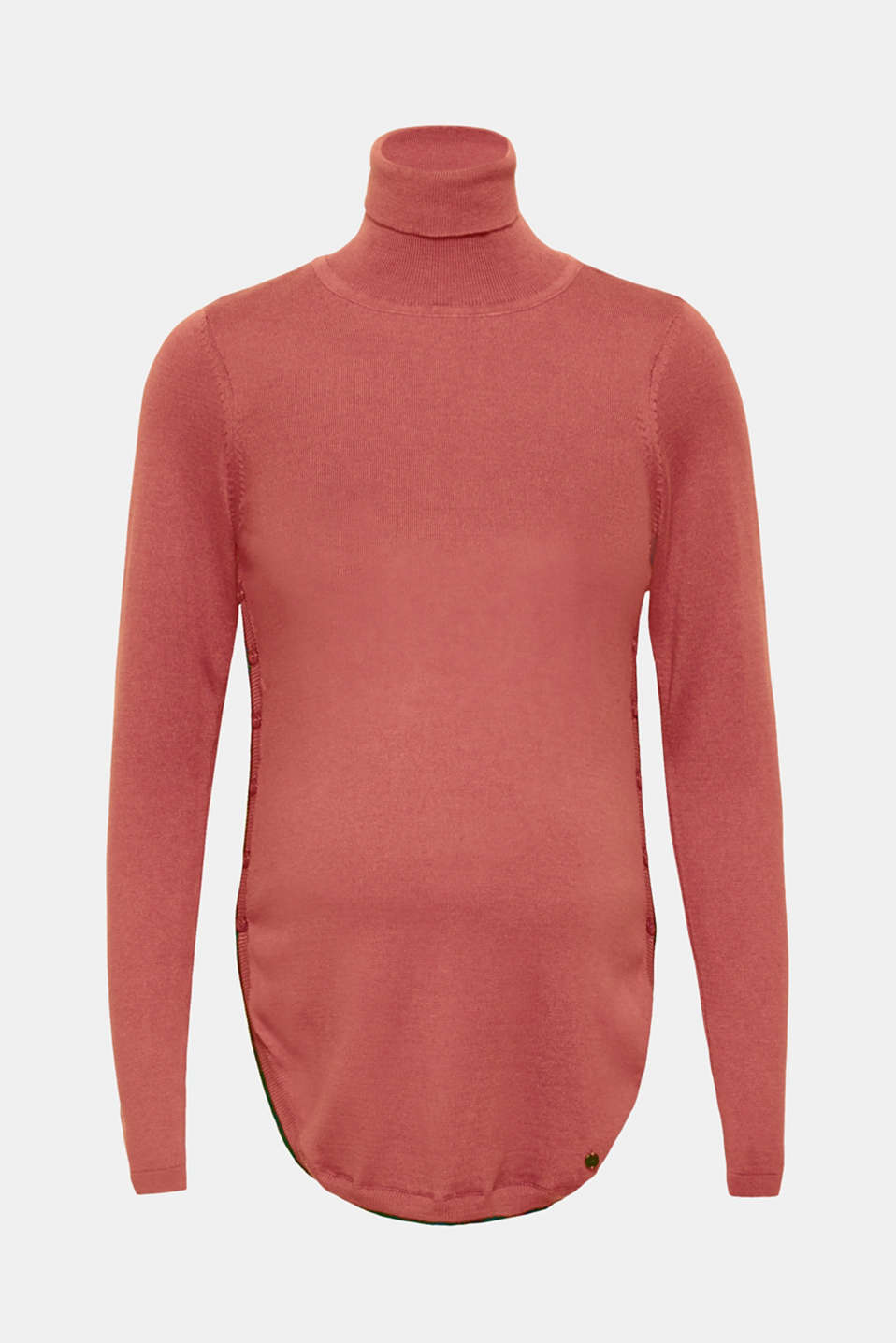 Esprit - Long polo neck jumper with button plackets