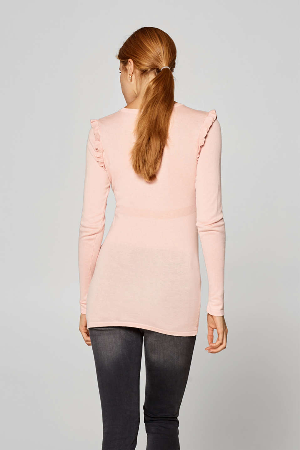 Jumper with frill details, LCLIGHT PINK, detail image number 2