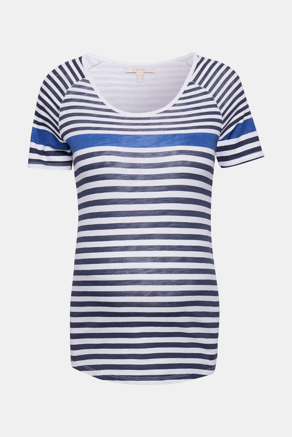 100% cotton tee with colour block stripes, LCNIGHT BLUE, detail image number 0