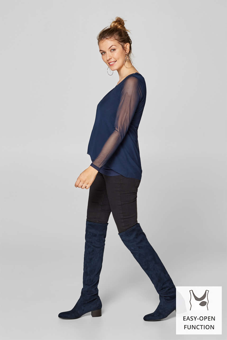 Esprit - Layered mesh nursing top