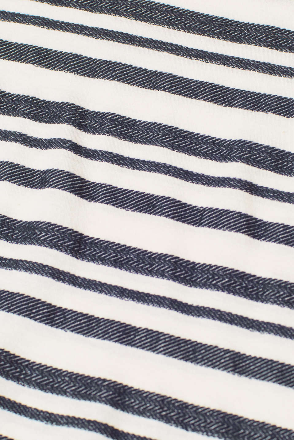 Textured top with trumpet sleeves, LCNIGHT BLUE, detail image number 4