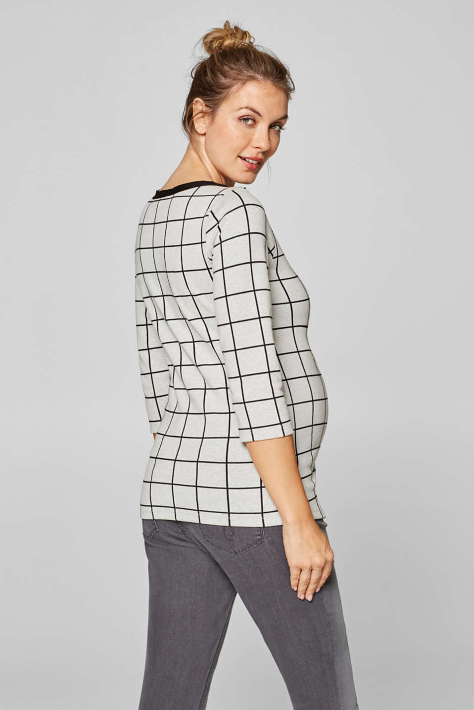 Long sleeve top with a graphic pattern and stretch for comfort, LCBLACK, detail image number 3
