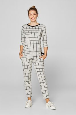 Long sleeve top with a graphic pattern and stretch for comfort, LCBLACK, detail