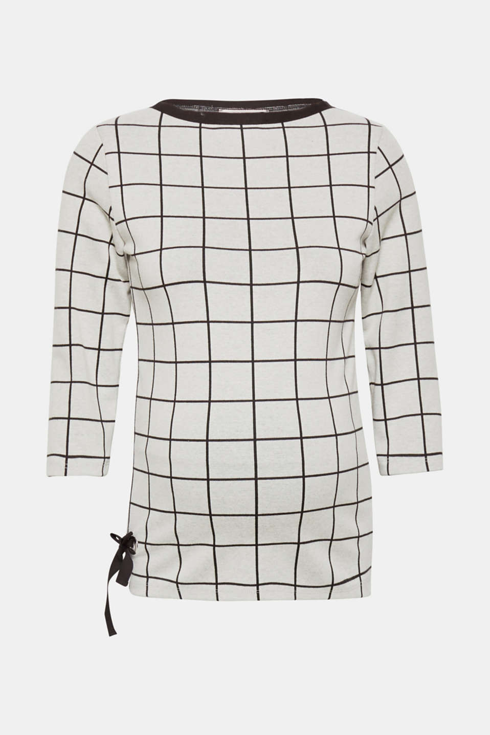 Long sleeve top with a graphic pattern and stretch for comfort, LCBLACK, detail image number 0