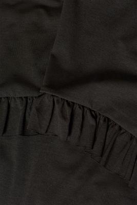Frill detail nursing tee, LCBLACK, detail