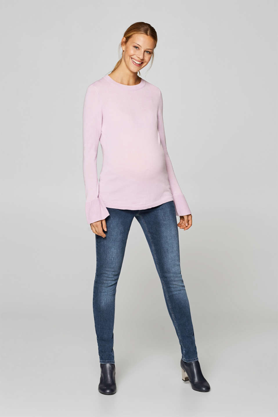 Esprit - Stretch jeans with a fashionable under-bump waistband