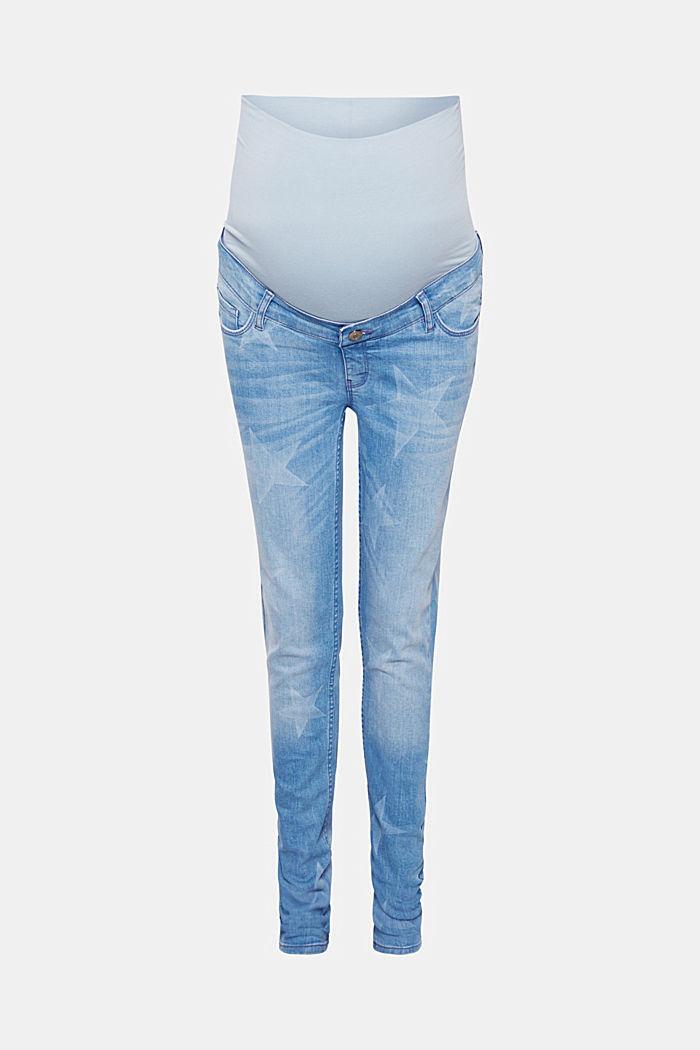 Jeans mit Sternen, Überbauchbund