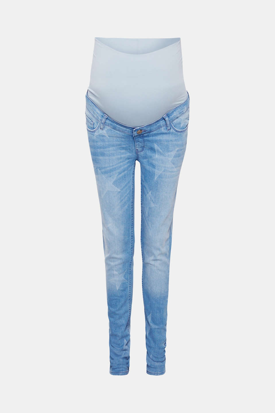 Esprit - Jeans with stars, over-bump waistband