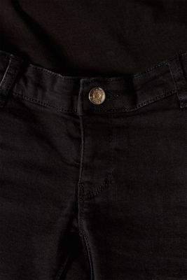 Cropped stretch jeans with an over-bump waistband, LCBLACK DARK WAS, detail