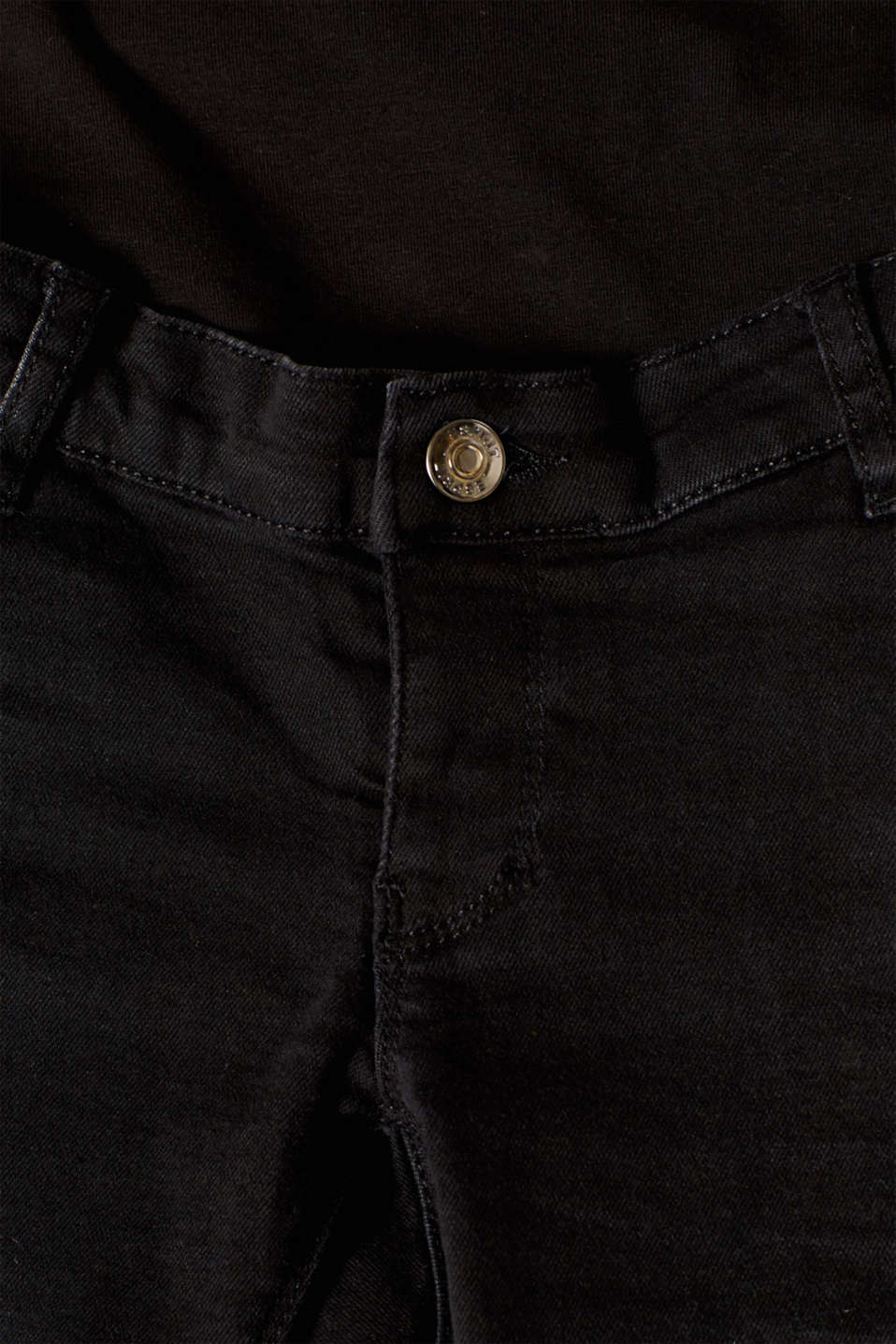 Cropped stretch jeans with an over-bump waistband, LCBLACK DARK WAS, detail image number 3