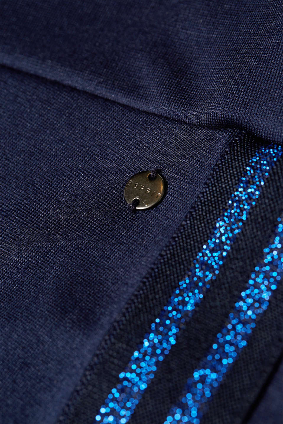 Stretch jersey trousers with an under-bump waistband, LCNIGHT BLUE, detail image number 4