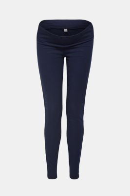 Stretch jersey trousers with an under-bump waistband, LCNIGHT BLUE, detail