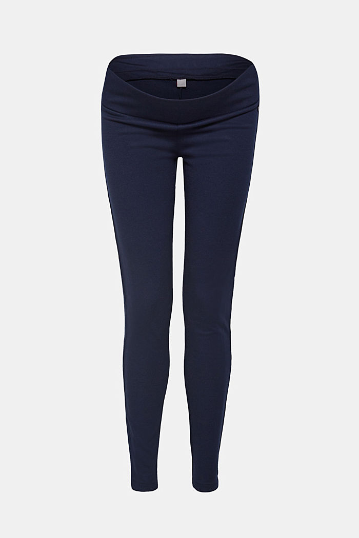 Stretch jersey trousers with an under-bump waistband, NIGHT BLUE, detail image number 0